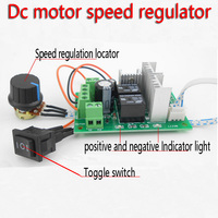Dc motor speed regulator Electric grinding polishing engraving 6 v 12 v and 24 v reversing control switch