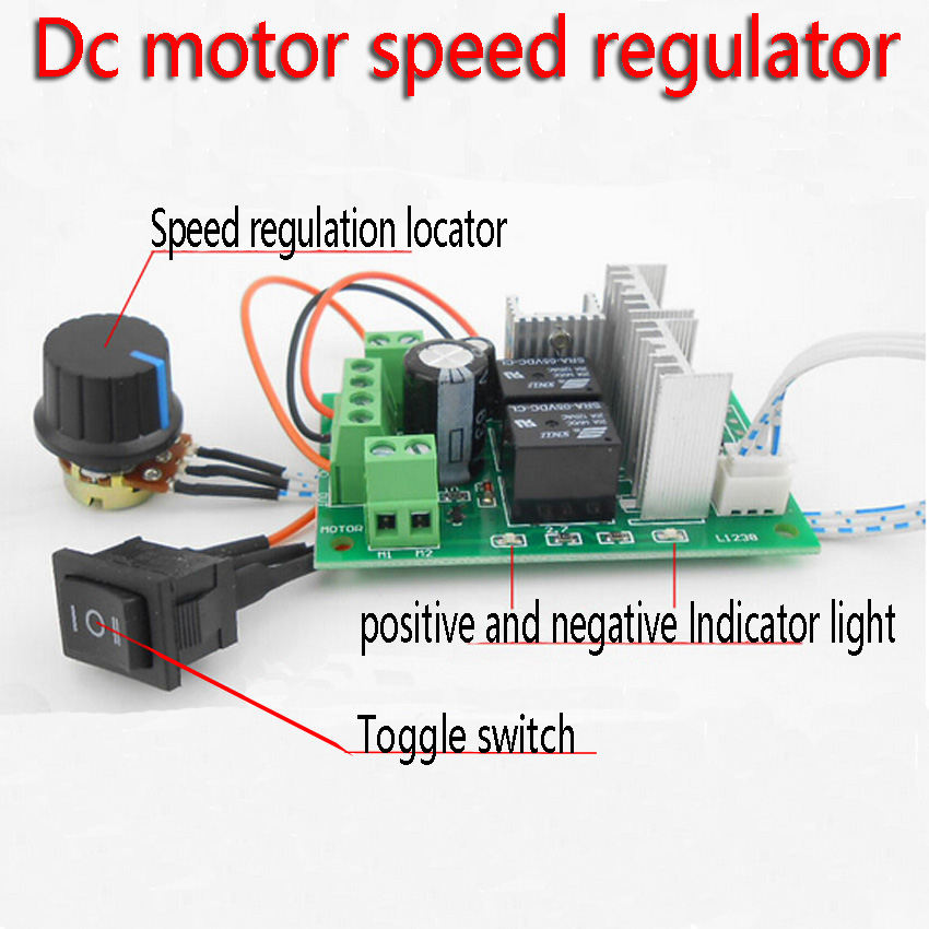 Dc motor speed regulator Electric grinding polishing engraving 6 v 12 v and 24 v reversing control switch