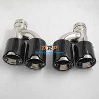High Quality 2 to 4 Car Rear Stainless Steel M Power Carbon Fiber Exhaust Muffler Tip for H BMW 335,535,640,5 Series,3 Series