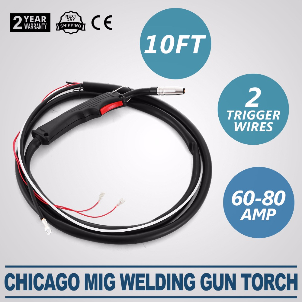 Chicago Electric Welder Mig Welding Gun Parts Torch 2 Trigger Wires On Or Cables And Welders Transformer 10ft 3m Stinger In Tool From Tools Alibaba Group