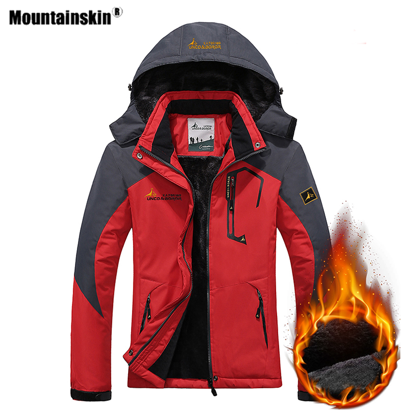 Mountainskin Women's Winter Inner Fleece Waterproof Hiking Jackets Outdoor Sports Warm Camping Trekking Skiing Coat Brand VB097