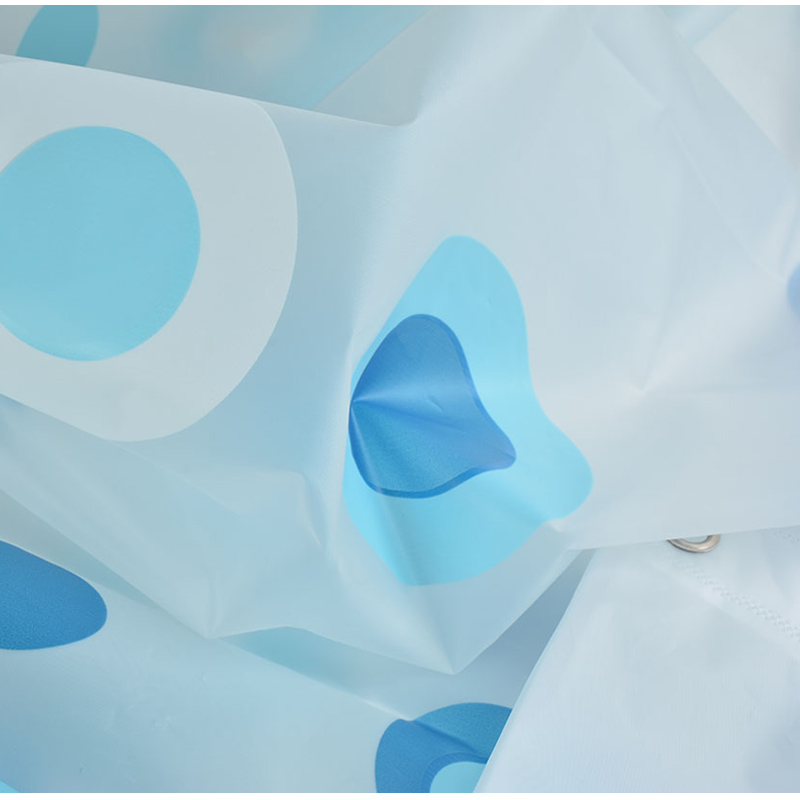 New Bathroom Shower Curtain Blue Circle Pattern PEVA Toilet Partition Curtain Waterproof Mouldproof Thickening in Shower Curtains from Home Garden