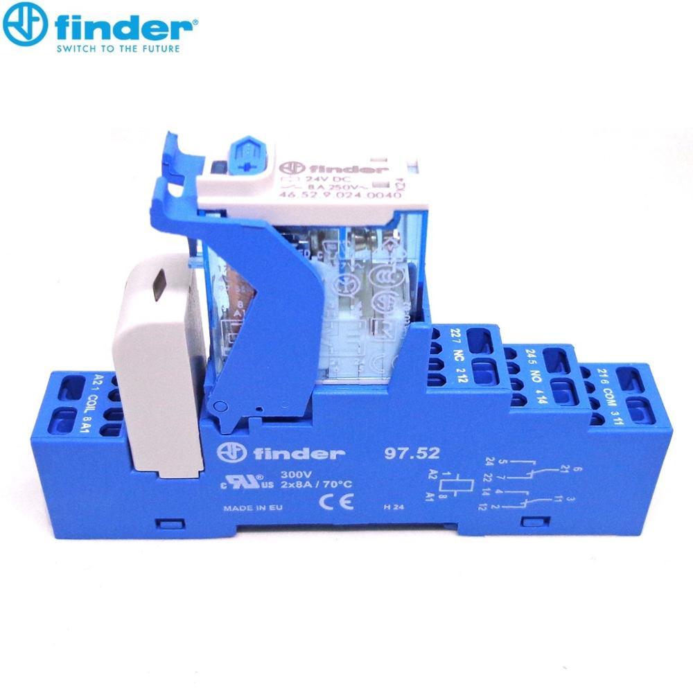 Реле finder 4C.52.9.024.0050 2CO 8A 24VDC 4C.51.9.024.0050 1CO 10A 24VDC абсолютно новое и оригинальное