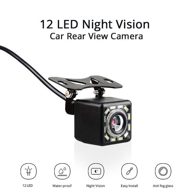 Car Rear View Camera 12 LED Night Vision Reversing Auto Parking Monitor CCD Waterproof  Video