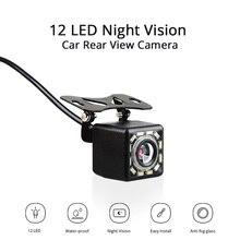 Auto Videocamera vista posteriore 12 LED Night Vision Telecamera di Retromarcia Parcheggio per Automobili Monitor CCD Impermeabile Video