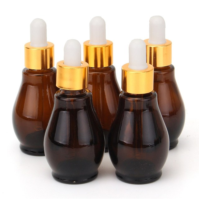52f88062c9f4 US $4.88 12% OFF|5pcs Gourd shaped Amber Glass Dropper Bottle With Eye  Pipette Aromatherapy Essential Oil Cosmetic Container 10/20/30/50/100ml-in  ...