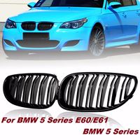 Pair Gloss/Matte Black Car Front Sport Grill Kidney Grilles Grill For BMW 5 Series M5 E60/E61 2003 2004 2005 2006 2007 2008 2009