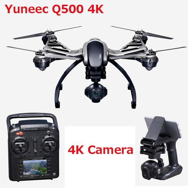 (Met twee batterijen) yuneec Q500 4 k camera met ST10 10ch 5.8g zender fpv quadcopter drone handheld gimbal + case