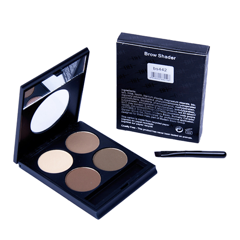 Permanent Eyebrow Enhancer  Professional Eye Brow Palette Set for Makeup  Waterproof and Long Lasting With Mirror