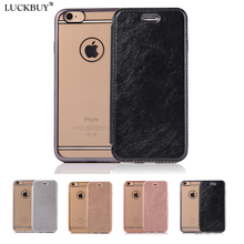 LUCKBUY 4 Colors Flip PU Leather Phone Case for iPhone 7 7 Plus 6 6s 4.7