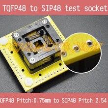 QFP48 to SIP48 test socke TQFP48/FPQ48/QFP48/LQFP48 0.75mm to SIP48 2.54mm ic socket to iraq were ic 200