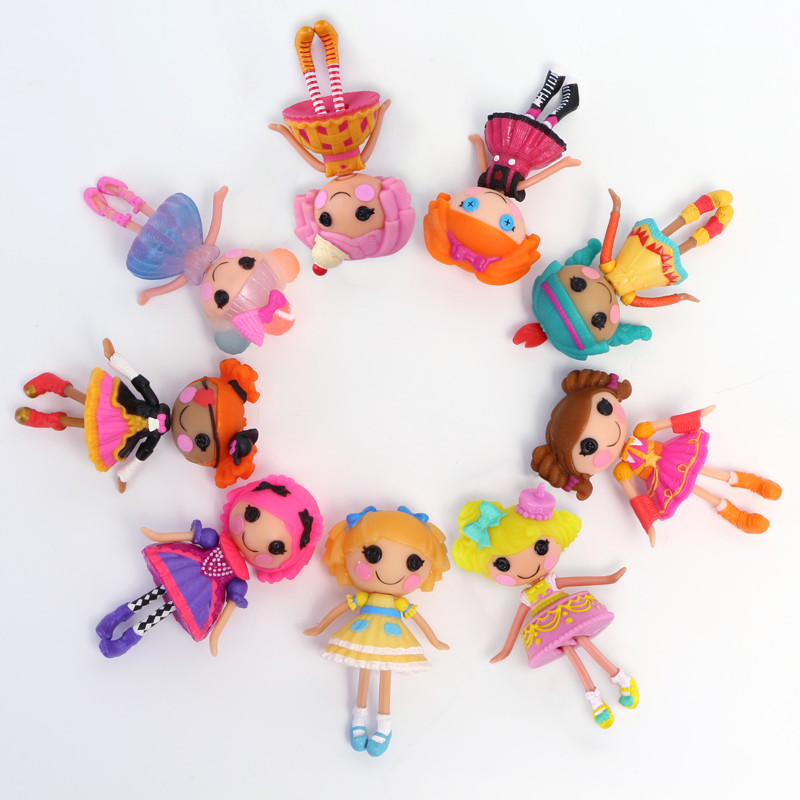 1pc 3Inch Mini Lalaloopsy Doll Bulk Button Eyes Action Figure Toy Juguetes Brinquedos Toys Best Doll Toys For Girl Children Kids
