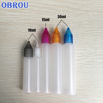 High quality pe plastic pen shape squeeze dropper bottle 10ml 15ml 30ml with screw cap free shipping 100pcs hdpe colored caps