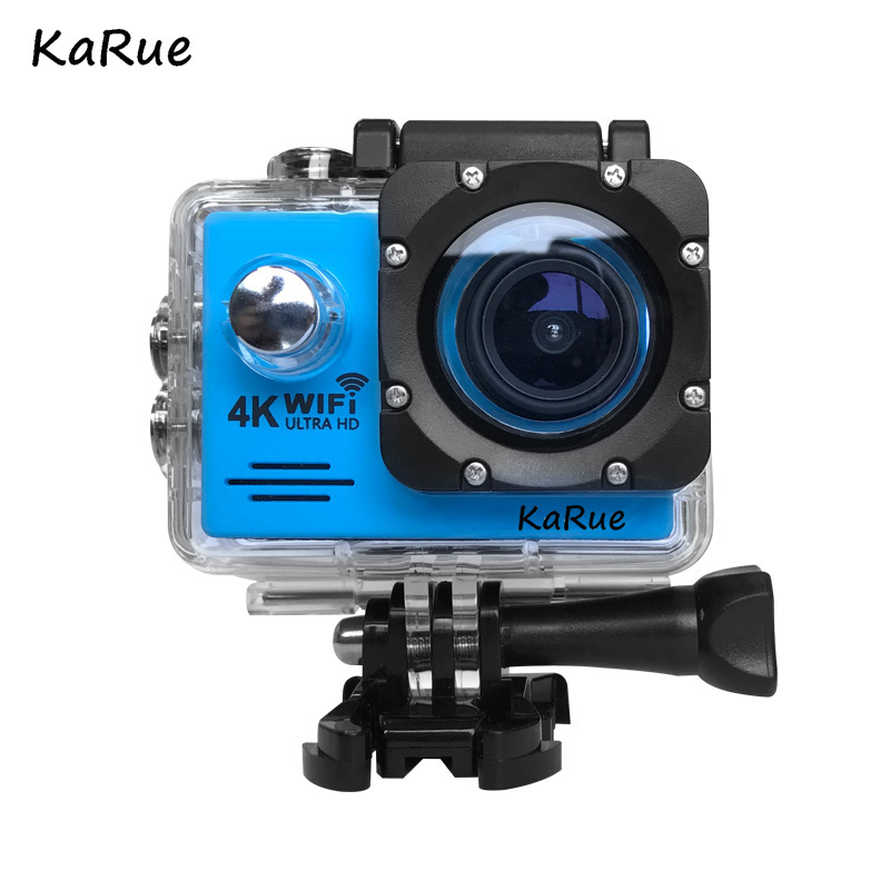 KaRue 1pcs KJ7000 Action Camera WiFi Ultra HD 4K Underwaterproof 30M Outdoor Sports Camera 2.0 LCD 1080p 60fps Camera
