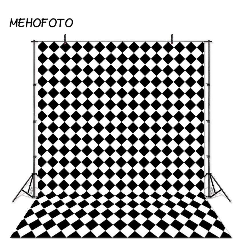 Us 8 99 40 Off Mehofoto Black And White Square Backdrop Baby Kids Portrait Backdrops Black White Photography Background For Photo Booth Studio In