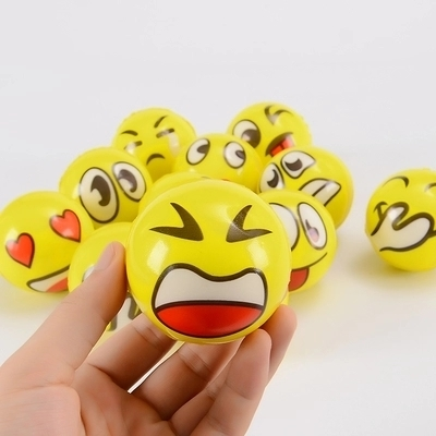 Cute early education increased intelligence smile ball Environmental non-toxic squeeze toys Practice baby grab force