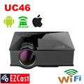 Unic UC46 40 Wifi Wireless Mirror Miracast Projection 1200Lumen HD HDMI Digital Multimedia LED Mini Projector Proyector Projetor