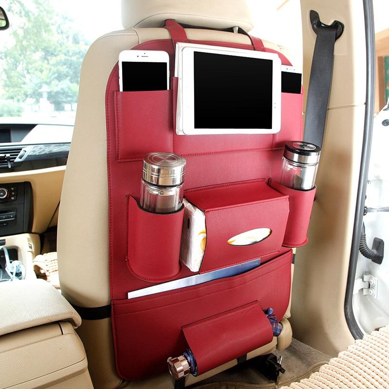 Asiento de cuero Asiento trasero Plegable Bolsa de almacenamiento - Accesorios de interior de coche - foto 4