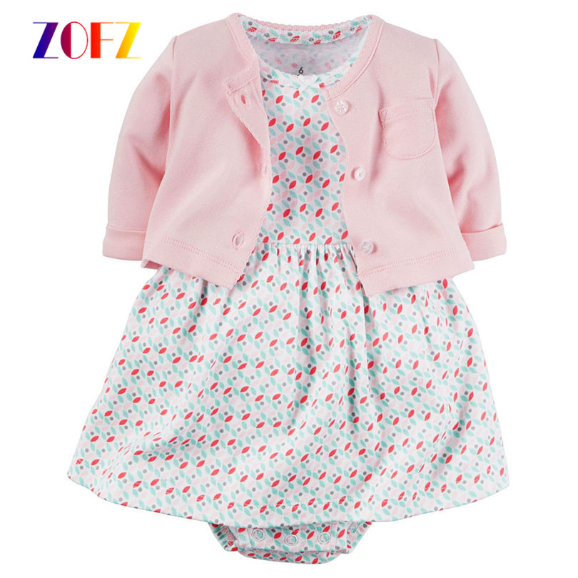 ZOFZ-New-Baby-Girl-Dress-Regular-O-Neck-2pcs-Dresses-for-Girls-Cotton-Floral-Dresses-with-Long-Sleeve-Cardigan-Baby-Girl-Clothes-2
