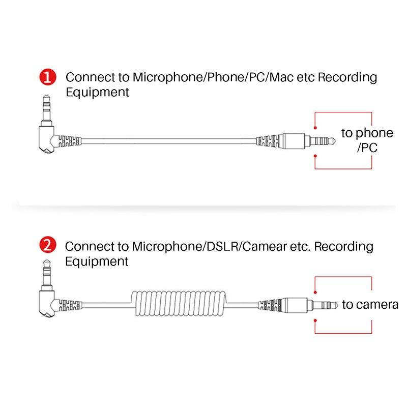 BOYA BY-MM1 Video grabación micrófono compacto VS Rode videomicrofono en cámara grabación Mic para iPhone 7X8 Huawei Nikon Canon DSLR - 5