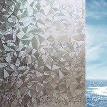 3D Irregular Privacy Window Film Glue-free electrostatic Glass Sticker Decorative bedroom door Home Decor