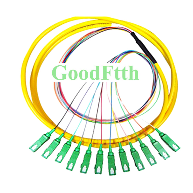 GoodFtth Fiber Optical Pigtail SC APC SC/APC Singlemode SM 12 cores fibers distribution bundle 1.5MGoodFtth Fiber Optical Pigtail SC APC SC/APC Singlemode SM 12 cores fibers distribution bundle 1.5M