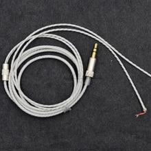 Weiß Ersatz linie Kabel reparatur cord Für KOSS Porta Pro Portapro kossPP Kopfhörer