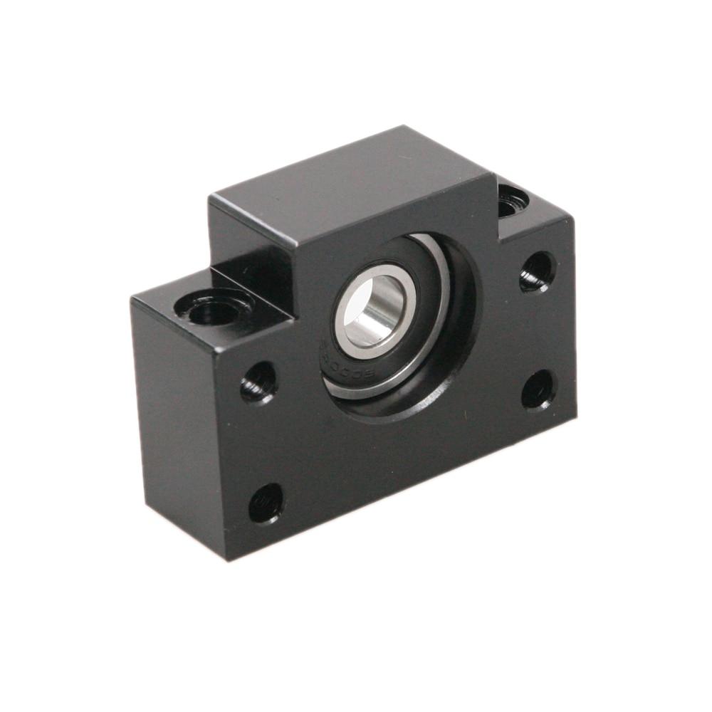 High Quality BF12 Ballscrew End Supports CNC Bearing Block High Hardness Steel Durable Plummer Block Housing For Ball Screw Rod