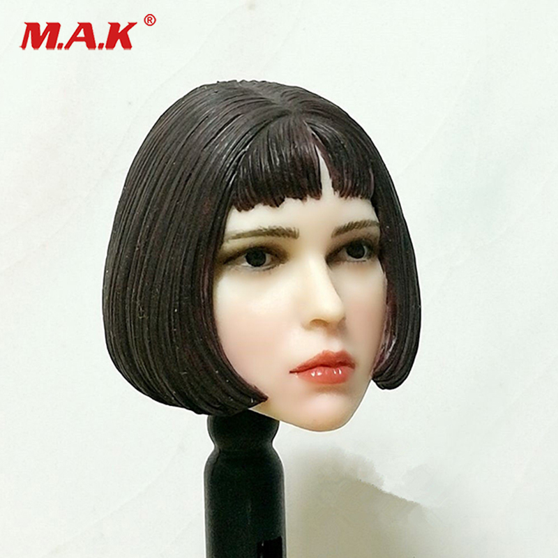 1:6 Scale Natalia Portman Short Hair Head Model Toy For 12 PH Woman Pale Skin S07C Body