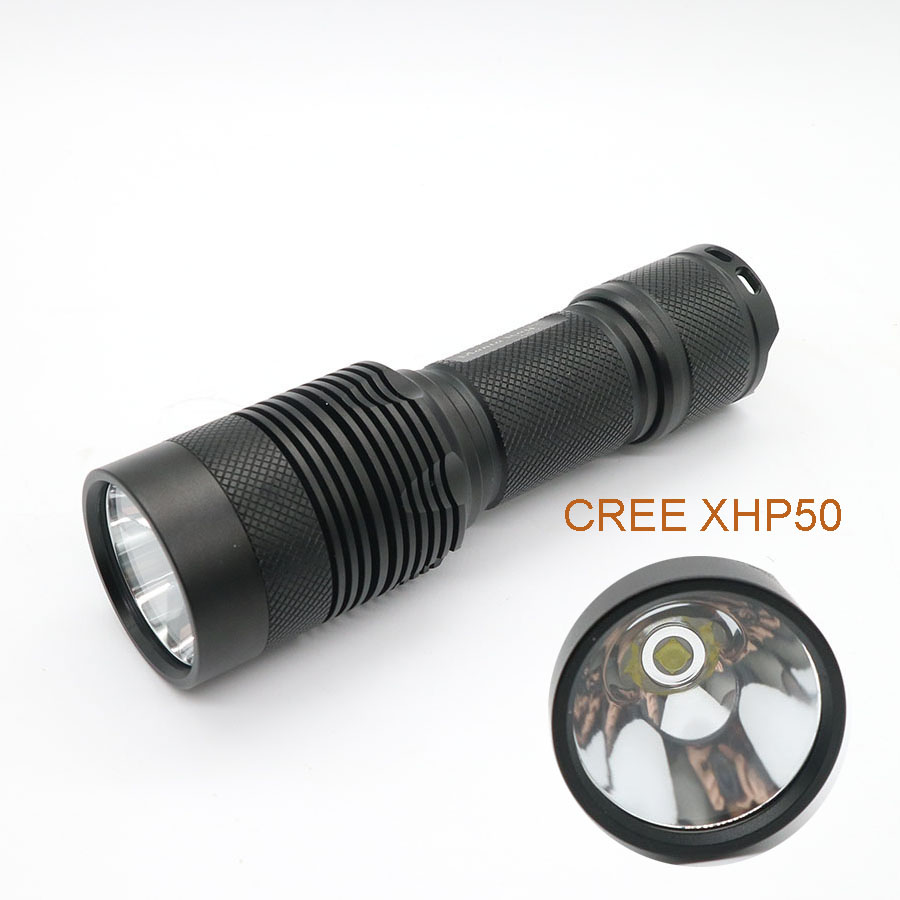 2017 New LED Flashlight High Quality CREE XHP50 Highlight 4000Lumens Tactical Flashlights Torch 3800 lumens cree xm l t6 5 modes led tactical flashlight torch waterproof lamp torch hunting flash light lantern for camping z93