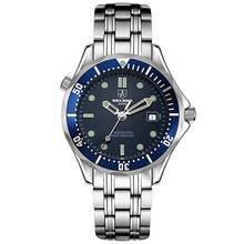 SEKARO Suiza relojes hombres marca de lujo reloj mecánico automático reloj deportivo diver luminoso ondulación del Agua relogio masculino