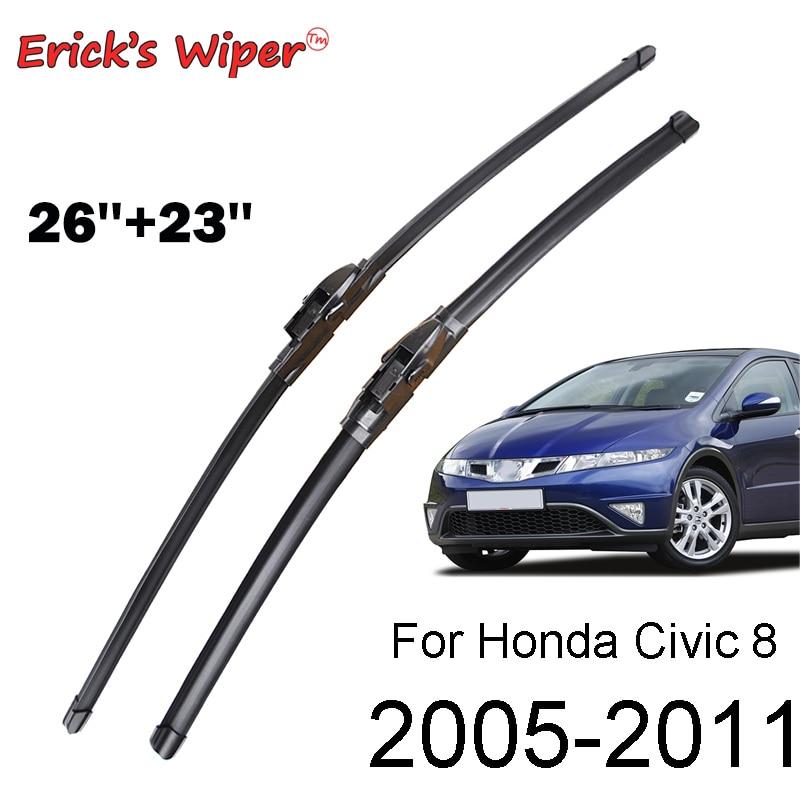 As lâminas de limpador dianteiras do limpador de erick para honda civic 8 europeu hatchback pára-brisas janela dianteira 26