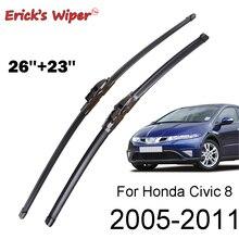 """Tergicristallo Anteriore Tergicristallo Per Honda Civic 8 delle Erick Europeo Hatchback Parabrezza Parabrezza Parabrezza 26 """"& 23"""" (Tipo di astronave)"""