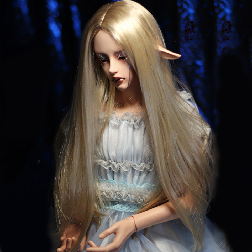 Cateleya bjd 1/3 female royal elder sister has real style, slightly curly straight hair, mohair-like wig,  and gold