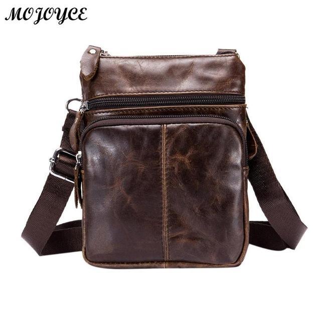 BULLCAPTAIN Business Crossbody Bag for Men Fashion Leather Small Satchel Shoulder Bag Sling Genuine Leather Bag Handbags Bolsas