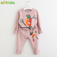 Winter Girls Clothing Sets 2016 New Active Boys Clothing Sets Children Clothing Cartoon Print Sweatshirts Pants