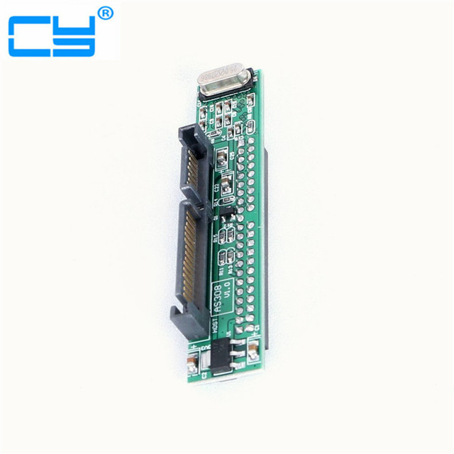 """44 pin 2.5'' IDE HDD SSD Laptop Hard Drive Female to 7+15 pin 22 Pin 2.5"""" Male SATA Controller Adapter Converter NEW"""