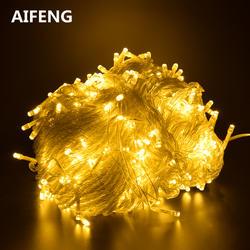 AIFENG нарусветодио дный жные рождественские светодиодные гирлянды 100 м 20 м 10 м 5 м Luces Decoracion fairy light Праздничные огни освещение Дерево гирлянда