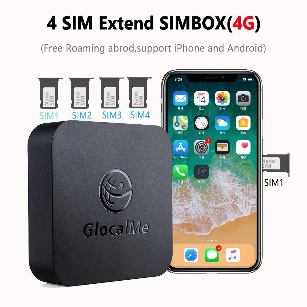 Nenhum roaming 4g simbox multi 4 sim espera dupla para ios iphone android nenhuma necessidade de transportar o trabalho com dados de wifi para fazer chamada & sms