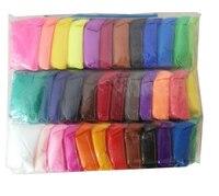 36 pcs/ensemble Coloré Super Léger Argile Polymère BRICOLAGE Doux Creative Handgum Jouets pâte à Modeler pour Enfants Cadeau avec Outils