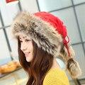 2017 nuevo sombrero de señora Sombrero de Invierno explosión cálida cálido y grueso de lana de punto doble señora Pi Caomao