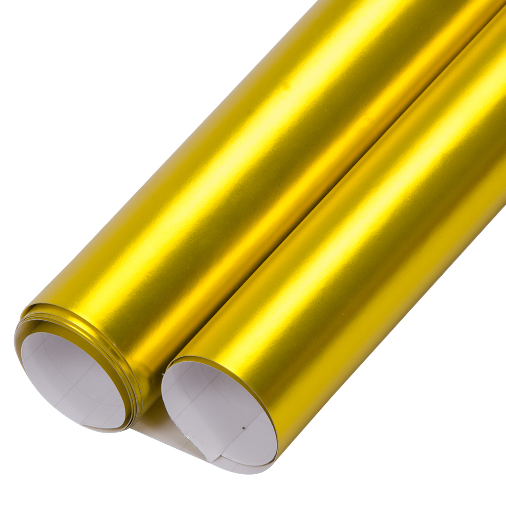 60x20/152x50cm Gold Premium Satin Matte Chrome Metallic Vinyl Film Wrap Sticker Airr Bubble Free Free