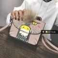 Fashion Personality Graffiti Crossbody Bags for Women 2017 Plush Vintage Cat Ladies lock Flap Shoulder Messenger Envelope Bag
