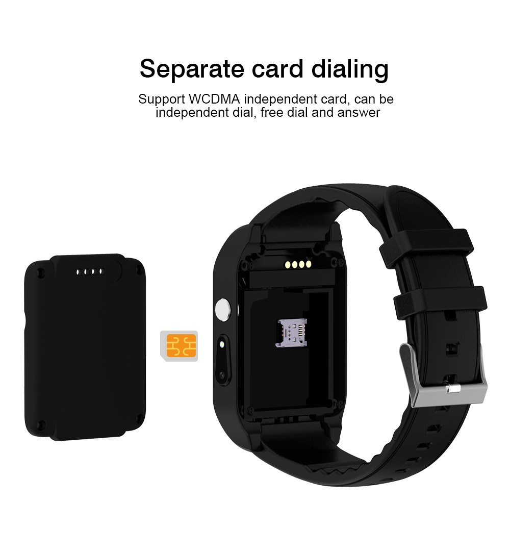 US $48 88 |ZoneQuality X86 Android4 4 MTK6572 512 MB + 4 GB Wearable  devices support 3G Playstore smartwatch sim card men PK QW09 S8 KW88 -in  Smart