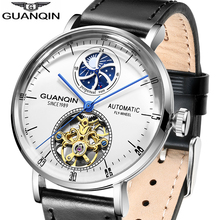 GUANQIN Mechanical Watch 2019 Top Brand Luxury Clock Automatic Skeleton Moon Phase Waterproof Watches GJ16118 Orologio Uomo