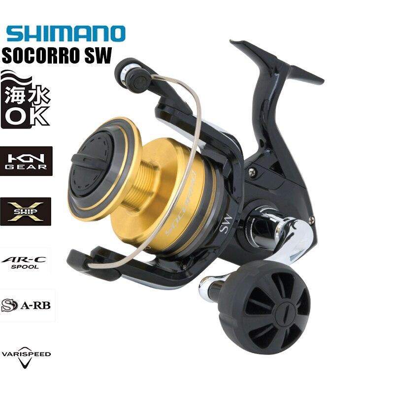 Originais SHIMANO SW 5000 6000 8000 10000 4 + 1BB 10 SOCORRO-12 (KG) arrastar HAGANE X-SHIP Saltwater Spinning Reel Fishing