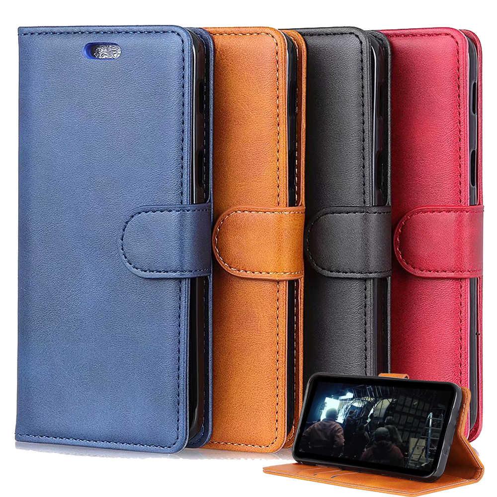 Para Xiaomi Pocophone Poco F1 Redmi Nota 6 5 Pro Cartão Stand Holder Wallet Magnético Flip Caso Coldre de Couro PU tampa de proteção