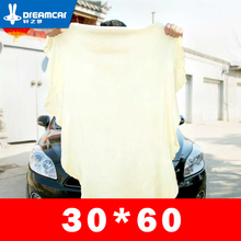 Samochód naturalne suszenie Chamois ręcznik do czyszczenia ręczniki do czyszczenia samochodu suszenie ściereczki do mycia 30*60 cm ręcznik do mycia samochodu gąbka szczotka