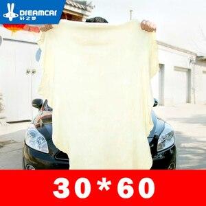 Image 1 - Toalla de limpieza de gamuza de secado Natural para coche toallas para limpiar coches paño de secado y lavado 30*60 cm Toalla de lavado de coches esponja cepillo
