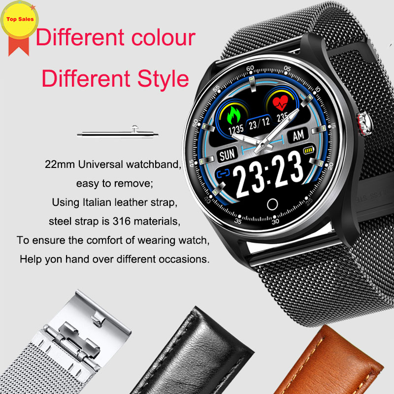 2019 new fashion ECG PPG Smart Watch Electrocardiograph watch Ecg Heart Rate Monitor Blood Pressure sport real ECG Smartwatch